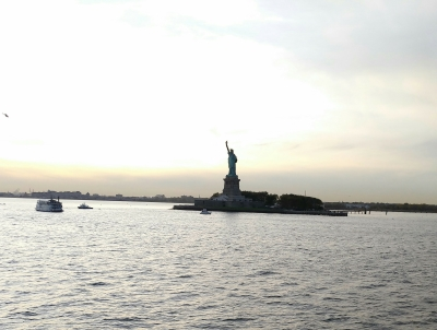 La Estatua de la Libertad desde el ferry a Staten Island